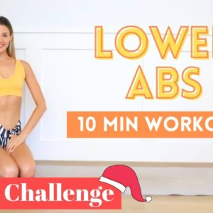 10 MIN LOWER ABS | Fitmas Day 12