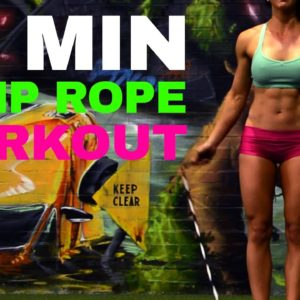 10 MINUTE JUMP ROPE WORKOUT Tone Legs and Shoulders