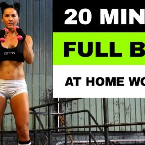 20 MIN FULL BODY WORKOUT | At Home or Gym Boxing Jump Rope