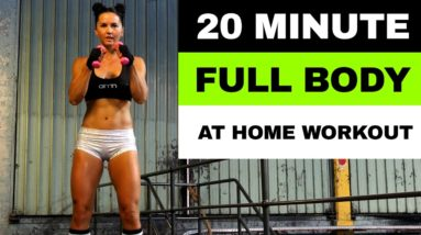 20 MIN FULL BODY WORKOUT   At Home or Gym Boxing Jump Rope