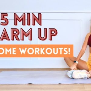 2021 HOME WORKOUT WARM UP ROUTINE | Do this before you work out!