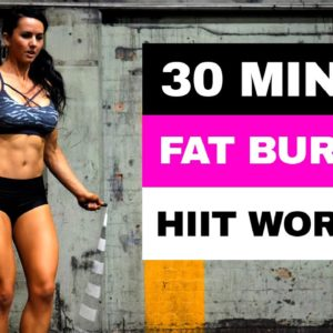 30 MIN Full Body FAT-BURNING HIIT Jump Rope WORKOUT