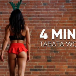 4-Minute Fat Burning Workout | Tabata for Beginners