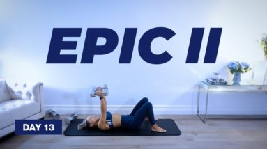 45 Min COMPLETE Chest & Triceps Workout / Dumbbells | EPIC II - Day 13