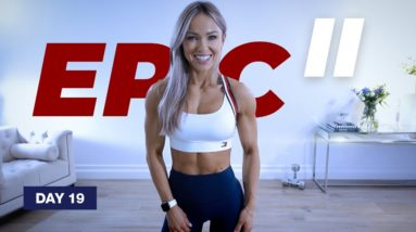 45 Min STRONG Shoulder Workout with Dumbbells   EPIC II - Day 19