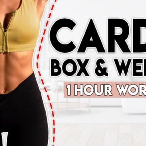CARDIO BOX and WEIGHTS (full body fat burn)   1 hour Home Workout