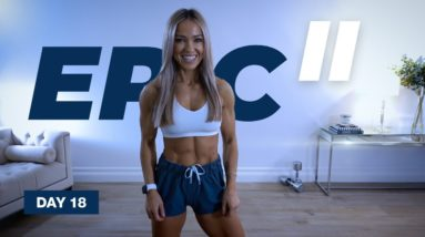 Dumbbell LEG DAY Workout / PYRAMID Sets | EPIC II - Day 18