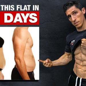 """Get a """"Flat Stomach"""" in 22 Days! (HOME WORKOUT)"""