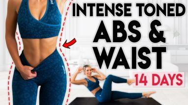 INTENSE TONED ABS and WAIST in 14 Days   6 minute Home Workout