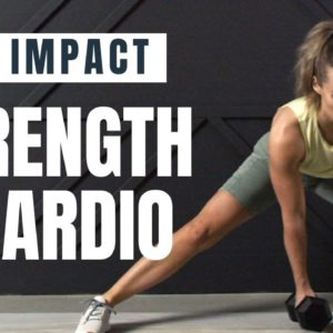 Low Impact STRENGTH & CARDIO Workout // Dumbbell Workout