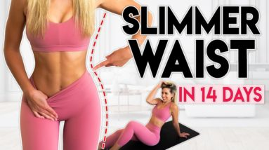 SMALLER WAIST in 14 Days (lose fat)   10 minute Home Workout
