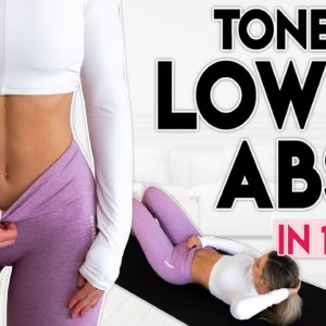 TONED LOWER ABS in 14 Days (lose fat) | 6 minute Home Workout