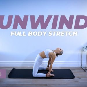 UNWIND 20 Min Full Body Stretch Routine | Caroline Girvan