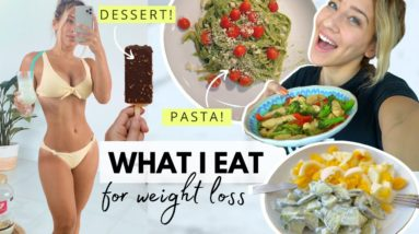 WHAT I EAT to lose fat // using NOOM + review