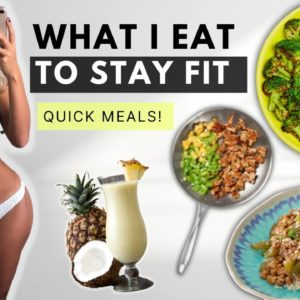 WHAT I EAT IN A DAY to stay FIT 💪🏼 QUICK & healthy meals