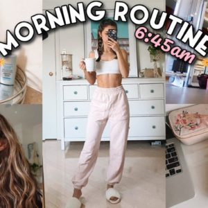 6:45AM SPRING MORNING ROUTINE | Healthy & Productive