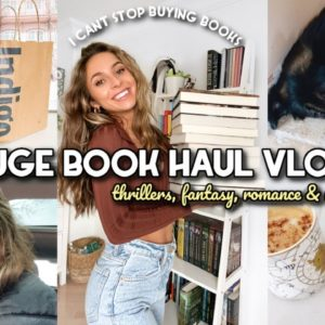 BUYING BOOKS TO ESCAPE REALITY | VLOG | Fantasy, Romance, Thrillers