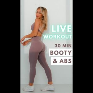 LIVE WORKOUT! 30 MINS BOOTY AND ABS workout 💪🏼 TODAY!!!!