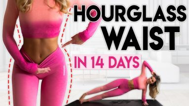 HOURGLASS WAIST & ABS in 14 Days (lose fat)   8 minute Home Workout