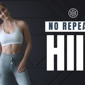 NO REPEATS HIIT Workout with No Equipment