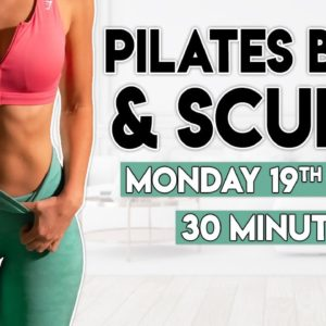 PILATES BURN & SCULPT (full body) | 30 minute at Home Workout