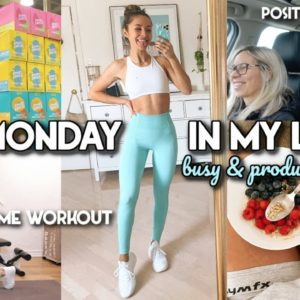PRODUCTIVE START TO THE WEEK, HOME WORKOUT, HEALTHY SNACKS | Vlog