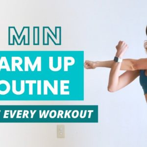 QUICK/SIMPLE 4 MIN WARM UP ROUTINE | Do this before every workout!