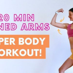 20 MIN TONED ARMS | Light Dumbbell Upper Body Workout