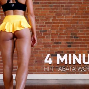 4 MINUTE FAT-BURNING WORKOUT |  TABATA FOR BEGINNERS