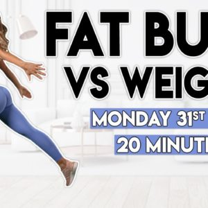 FULL BODY FAT BURN vs WEIGHTS | 20 minute Home Workout