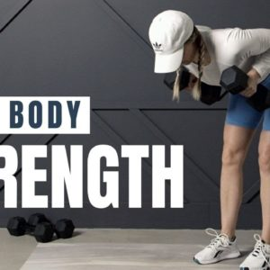 Full Body STRENGTH Workout // Low Impact + Dumbbells Only