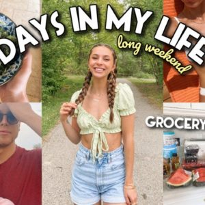GROCERY HAUL, HEALTHY MEALS, NEW JEWELRY, & THE BEST JEANS EVER | Vlog