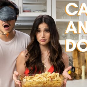 Cooking Viral Tiktok Recipes Blindfolded with Anne Curtis (Feta Pasta and Tuna Onigiri)