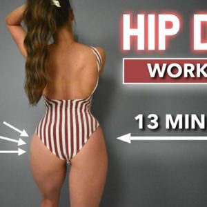 12 BEST Exercises To Reduce HIP DIPS | Rounder Hips & Booty Workout - At Home, No Equipment
