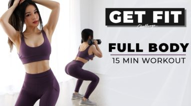 15 Min Full Body Workout to GET FIT   2021 Get Fit Challenge