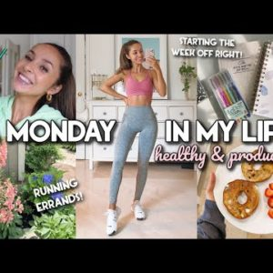 A PRODUCTIVE START TO THE WEEK, WORKOUT, HEALTHY MEALS, PLANNING! | Vlog