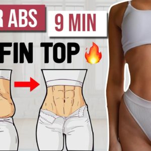 9 MIN INTENSE LOWER ABS WORKOUT 🔥 Get Rid Of Muffin Top & Belly Fat | At Home - No Equipment
