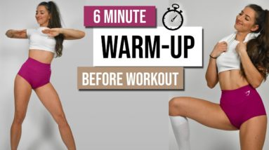 QUICK WARM-UP ROUTINE Before Your Workout | 6 Minutes