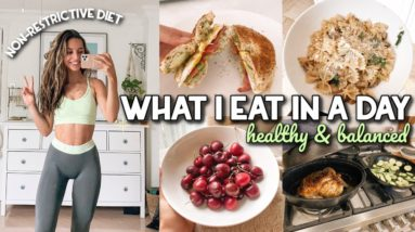 WHAT I EAT IN A DAY   Healthy & Balanced   Non-Restrictive
