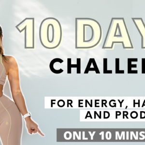 10 MINS WORKOUT | DAILY WORKOUT CHALLENGE for happiness & energy!