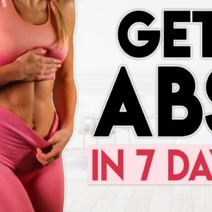 GET ABS AT HOME in 7 Days (lose belly fat) | 7 minute Home Workout