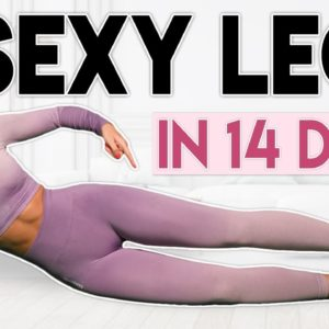 SEXY LEGS in 14 Days (lose & burn fat) | 8 minute Home Workout