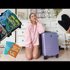 VLOG | PREP & PACK WITH ME | Travel Must-haves, Summer Reads, Self-Care