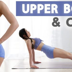 10 Min Upper Body & Core Workout   2 Weeks Shred Challenge 2021