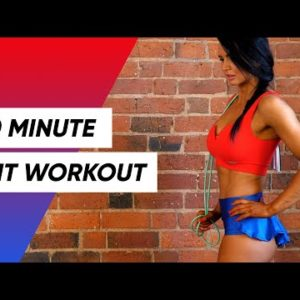 20 Minute Full Body Jump Rope HIIT Workout