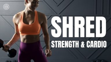 💪🏼 Super Shred // Strength & Cardio Workout (Dumbbells Only)