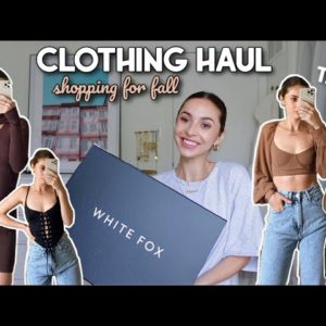HUGE TRY ON CLOTHING HAUL | shopping for fall | ft White Fox Boutique