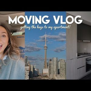 MOVING VLOG: getting the keys to my first apartment!! 🏙 + lots of unpacking