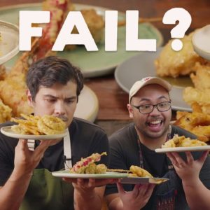 How To Make Tempura (Prawns, Pineapples, Hot Dogs...) with Erwan Heussaff and Chef Martin