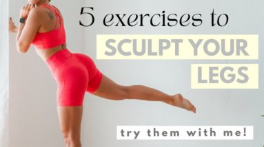 5 EXERCISES for toned legs | Workout
